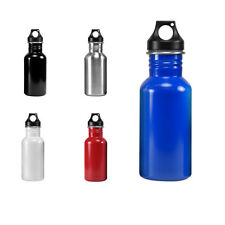 Eco-Friendly Wide Mouth 17 oz, 500 mL Stainless Steel Water Bottle - BPA Free