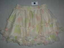 GAP KIDS Pink Cameo Floral Flower Ruffle Circle Skirt NWT