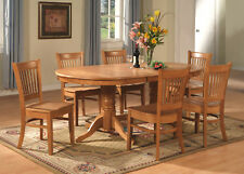 5-PC VANCOUVER OVAL DINETTE KITCHEN DINING ROOM SET TABLE WITH 4 CHAIRS IN OAK