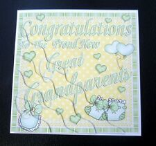 Proud New Great Grandparents New Baby Card - boy, girl or unisex