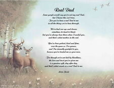Father Dad Stepfather Personalized Poem Real Dad 10 Choices