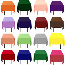 "25 Pack 72"" x 72"" Square Tablecloths Overlays 23 Colors 100% Polyester Wedding"