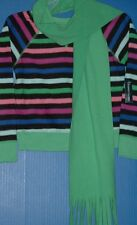 Faded Glory Girls Microfleece Polyester Crew Shirt Coordinated Scarf Sets Grp 1