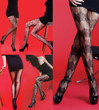 New Womens Fishnet Style Fashion Tights ~ Various Designs ~ Silky Scarlet Range