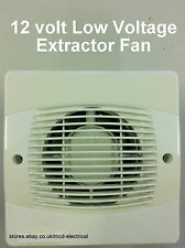 LOW VOLTAGE 12v AC Extractor Fan for use in Shower areas.