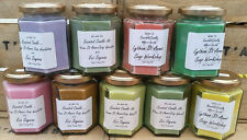 AMAZING HANDMADE SCENTED JAR CANDLES ECO SOY WAX 60HRS BURN HIGHLY SCENTED