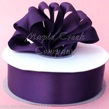 Double Face PLUM 100% Polyester Satin Ribbon Assorted Sizes