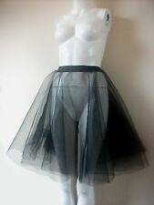 1950s1960s ROCK AND ROLL JIVE WHITE / BLACK NETTING SKIRT 2 LAYER UNDERSKIRT