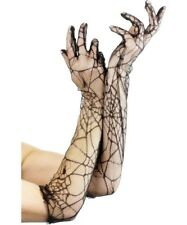 Spiderweb Lace Long Gloves Black Ladies Accessories Great For Halloween