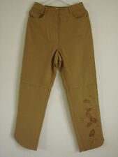BNWT Together New Ladies Woman Casual Trousers Flower Pattern BROWN SIZE 12 14