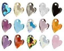 SWAROVSKI ELEMENTS 6261 Devoted 2 U Heart Pendant Many Colors & Sizes