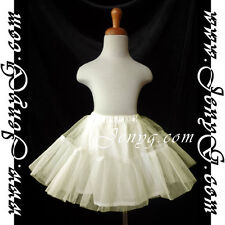 #U52 Petticoats Pettiskirts for Flower Girl/Pageant/Holiday, Ivory 0-5 Years