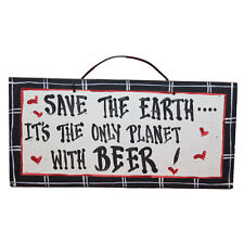 American Made Hand Painted Humorous Wooden Plaque Signs Cottage Style
