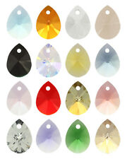 2 SWAROVSKI ELEMENTS 6128 Mini Pear Pendant 12mm  Many Colors