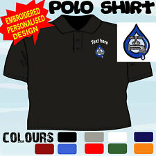 PERSONALISED EMBROIDERED PLUMBING LOGO BUSINESS WORKWEAR T POLO SHIRT