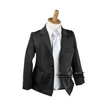 NEW Kids Boys Formal Suit Wear Sold Separate (Jacket Vest Pants) sz000–16 BLACK