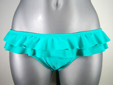 "NWT Juniors ROXY ""Moonshadow"" Moroccan Mint Ruffle Pant Low Rise Bikini BOTTOM"