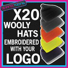 X20 WOOLY HATS PERSONALISED WITH YOUR OWN LOGO / TEXT BUSINESS WORKWEAR