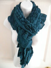 NEW women winter warm puffy ruffle Knitted Crochet Long scarf wrap shawl