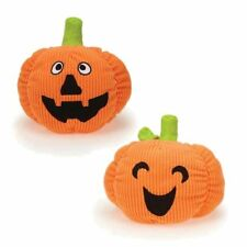 Grriggles PLAYFUL PUMPKIN Dog Toy Squeaker Soft Corduroy Plush Pet Toy Bright