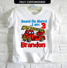 PERSONALISED MY  BIRTHDAY DESIGN  SOUND THE ALARM COMICAL PARTY  T SHIRT