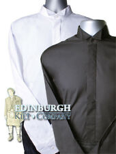 WING COLLAR SHIRT..WHITE, BLACK & SIZES 14 TO 21..PERFECT WITH A KILT OUTFIT!