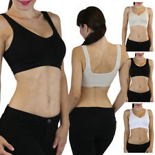 Pick Your Comfortable Basic Sport Bra Tank Top Lightly Padded Wire Free Support