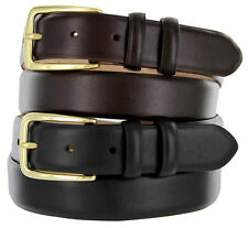 "The Andrew - Genuine Leather Italian Calfskin Designer Dress Belt 1-1/8"" Wide"
