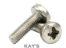M5 / 5mm A2 Stainless Steel Pozi Pan Head Machine Screws/Bolts, Free P&P