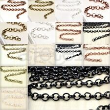 2m/4m Wholesale Unfinished Rollo Chain Antique Brass/Copper Silver Black Choose