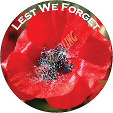 Remember Sunday Red Poppy Lest We Forget Cupcake & Icing Cake Toppers Charity