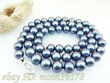 """Peacock Blue Top Grade Akoya Fine Pearl Necklace 16"""" 18"""" 20"""" 14k Best Xmas Gift"""