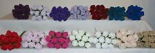 10 COLOURFAST FOAM ROSES- 4CM - 14 COLOURS - WEDDING/ARTIFICIAL FLOWERS/CRAFT