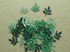 50 Green Frond Punches for Cardmaking, Scrapbooking Pages & Other Paper Crafts