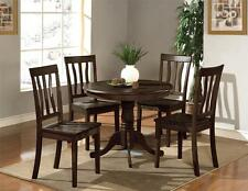 "3 PC DINETTE KITCHEN SET 36"" ROUND TABLE WITH 2 WOOD SEAT CHAIRS IN CAPPUCCINO"