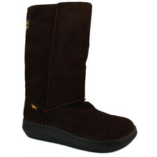 Rocket Dog Sugardaddy Womens Slip On Suede High Boots Dark Brown