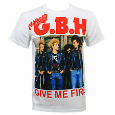 Authentic CHARGED GBH G.B.H. Give Me Fire White T-Shirt S M L XL XXL Punk NEW