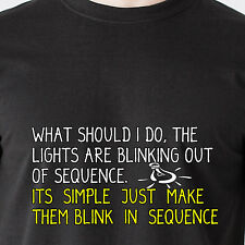 What should i do, the lights are blinking out of sequence Airplane Funny T-Shirt