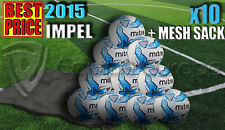 10 x NEW MITRE IMPEL WHITE/BLUE TRAINING FOOTBALL SIZE 3,4,5 (32 PANEL BALL)