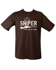 Sniper T Shirt Out of Sight Out of Mind Military Army