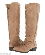 $90 Womens MIA Pacey Taupe Casual Riding Tall Leather Boots ~ Great Gift