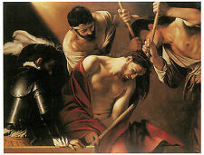 The Crowning with Thorns, 1602-04 or 1607,  CARAVAGGIO - Life of JESUS  Art