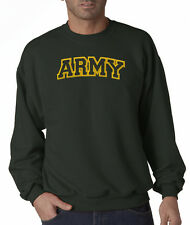 USA Army Logo Letters Military Embroidered Jerzees Crewneck Sweatshirt