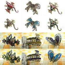 Multiple Select Butterfly & Lizard Glitter Crystal Alligator Jaw Hair Clip Claw