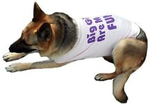 Dog Tee T-Shirt Tank BIG Dog Clothing Clothes Custom Fun Ribbed Cotton