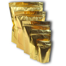 "coffee packing gold zip lock bags stand up foil 3X5""/4x7"" 2-1000PCS"