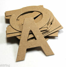 "2"" Block Helvetica Raw White Color Textured Chipboard Custom Alphabet Letter Set"