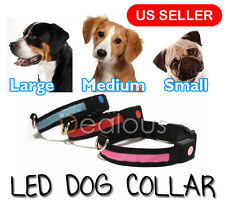 3 Colors 4 Size Illuminated Led Flashing Light Dog Cat Pet Safety Collar