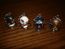 Teenymates -Teams of the NFC West Keychains (Cardinals, 49ers, Rams, Seahawks)