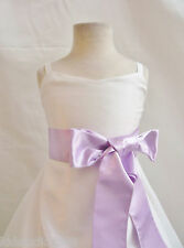 # CO8 Flower girl dress easter gown bridals party ivory lilac 1 2 4 6 8 10 12 14